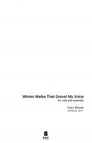 Winter Walks that Gravel my Voice
