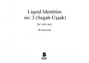 Liquid Identities No:3(Segah-Uşşak)