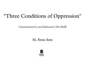Three Conditions Of Oppression
