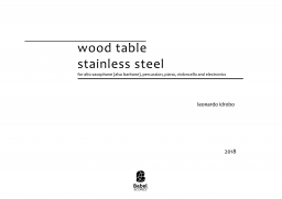 wood table    stainless steel image