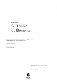 Climax ou Eléments