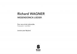 WAGNER - Wesendonck-lieder