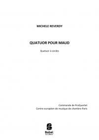 Quatuor pour Maud
