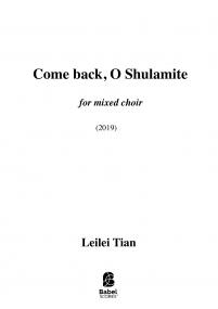 Come back, O Shulamite