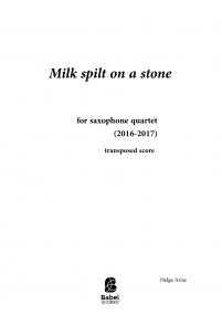 Milk Spilt on a Stone