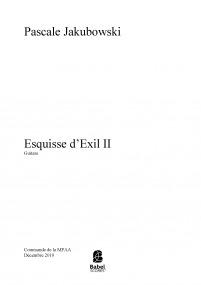 Esquisse d'exil II