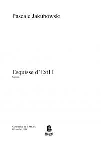 Esquisse d'Exil I