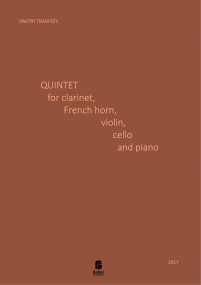 Quintet for clarinet, horn, violin, cello and piano image