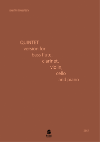 Quintet version for bass flute, clarinet, violin, cello and piano image
