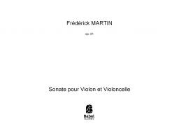 Sonate pour Violon et Violoncelle