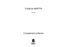 Complément à Marion (Op.62a)