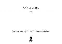 Quatuor pour cor, violon, violoncelle et piano