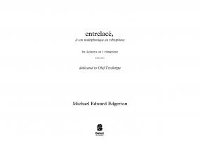 entrelacé, for four vibraphonists on one vibraphone