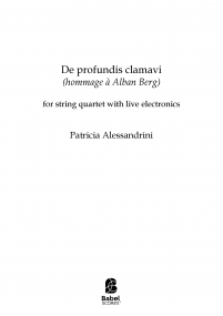 De profundis clamavi (hommage à Alban Berg)