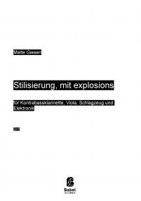 Stilisierung, mit explosions