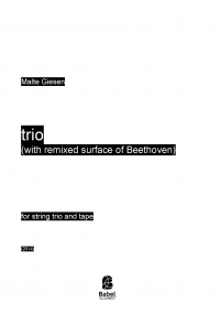 trio (with remixed surface of Beethoven)