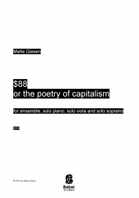$88 or the poetry of capitalism