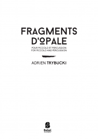 Fragments d'Opale [piccolo]