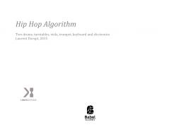 Hip Hop Algorithm
