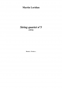 String Quartet n°3