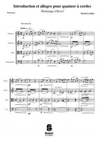 Introduction et allegro pour quatuor à cordes