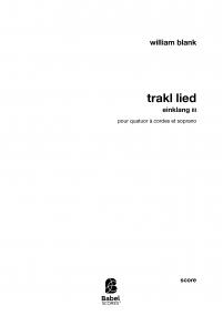 Trakl Lied – Einklang III