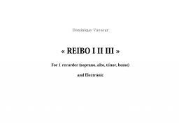 REIBO I II III
