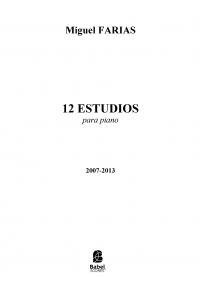 12 Estudios para Piano