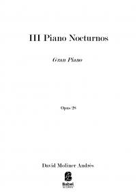 III Piano Nocturnos op.28