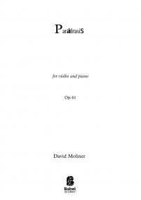 Paráfrasis for violin and piano op.41