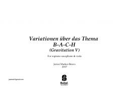 Variationen über das thema B.A.C.H