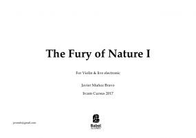 The Fury of Nature I for violin & live electronic