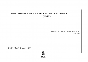 ...but their stillness showed plainly... (version for string quartet)  image