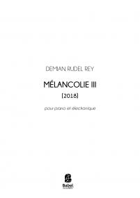 Mélancolie III
