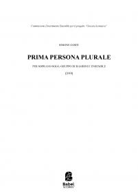 Prima persona plurale