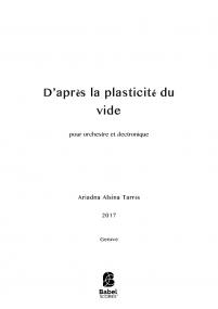 D'après la plasticité du vide