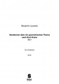 Variationen über ein geometrisches Thema nach Kurt Kranz - Teil I