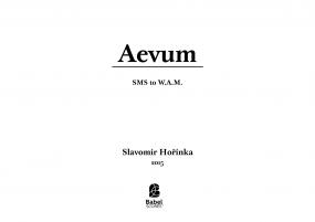 AEVUM. SMS to W.A.M.