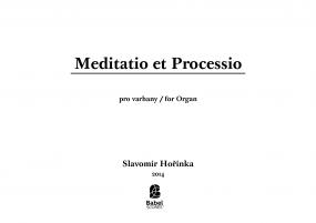 Meditatio et Processio