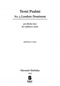 Terni Psalmi: No.3 Laudate Dominum