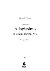 Adagissimo / In termini estremi, Nº 3