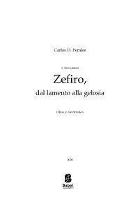 Zefiro, dal lamento alla gelosia
