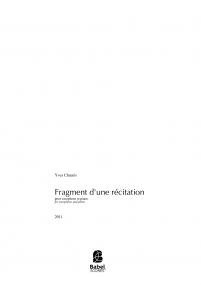 Fragment d'une récitation