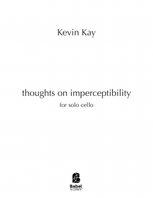 thoughts on imperceptibility