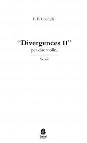 Divergences II