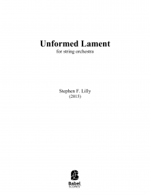 Unformed Lament