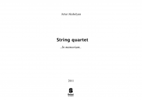 String Quartet No1 image