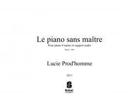 Le piano sans maître