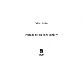 Prelude for an impossibility