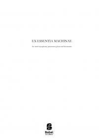 Ex essentia machinae